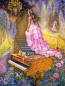 Mobile Preview: Josephine Wall, Melody in Pink, 90x68cm, 275 Farben, eckige Steine, Vollbild