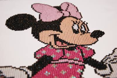 Diamond Painting Bild, Disney, Minnie Maus, ca. 42x35cm, Teilbild