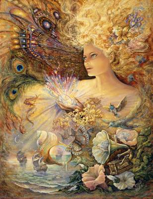 Josephine Wall, Crystal of Enchantment, ca. 100x77cm, 230 Farben, runde Steine, Vollbild