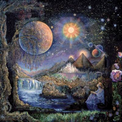 Josephine Wall, Doorway to the Stars, 85x85cm, 160 Farben, eckige Steine, Vollbild