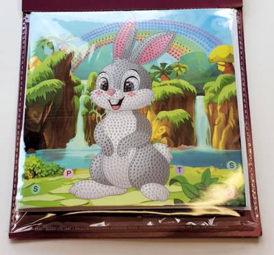 "Osterkarte (Craft Buddy) ""Rabbit Wonderland"", Painting-Set komplett mit runden Steinen"